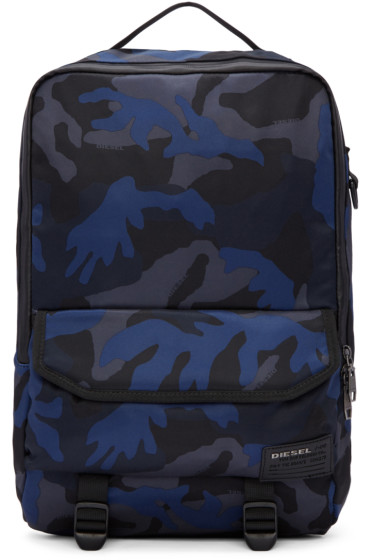 Diesel - Blue Camo F-Close Backpack