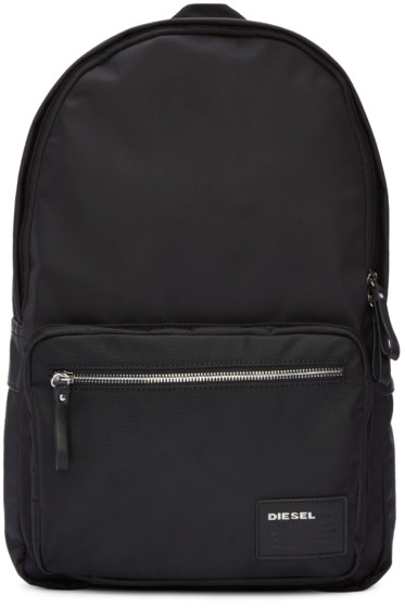 Diesel - Black Nylon Drum Roll Backpack