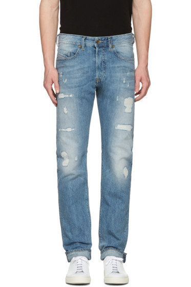 Diesel - Blue Destroyed Buster Jeans