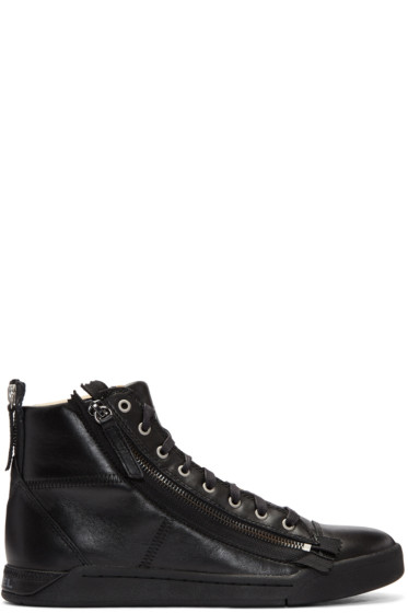 Diesel - Black S-Diamzip High-Top Sneakers