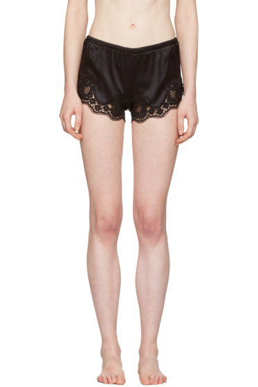 Dolce & Gabbana - Black Lace-Trimmed Sleep Shorts