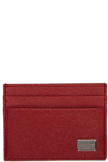 Dolce & Gabbana - Red Classic Logo Card Holder