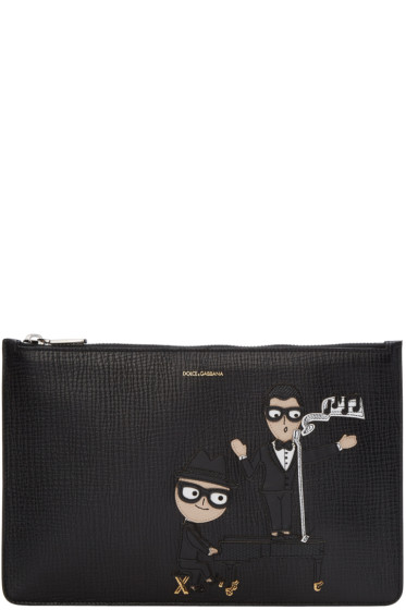 Dolce & Gabbana - Black Piano & Singer Pouch
