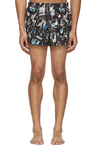 Dolce & Gabbana - Black Jazz Musician Swim Shorts