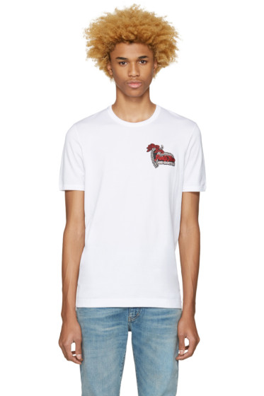 Dolce & Gabbana - White 'Party Time and Cocktails' T-Shirt