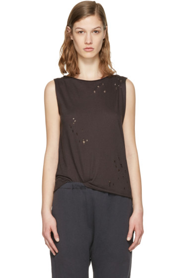 R13 - Black Raw Tank Top
