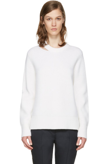 Rag & Bone - White Ginnie Cut-Out Sweater