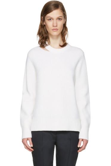 Rag & Bone - White Ginnie Cut-Out Sweater