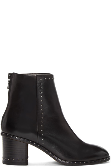 Rag & Bone - Black Studded Willow Boots