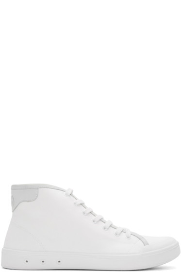 Rag & Bone - White Standard Issue High-Top Sneakers