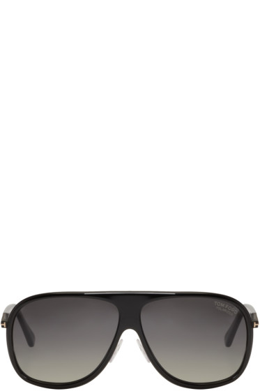 Tom Ford - Black Chris Aviator Sunglasses