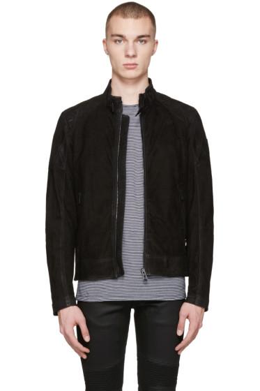 Belstaff - Black Suede Sandback Jacket