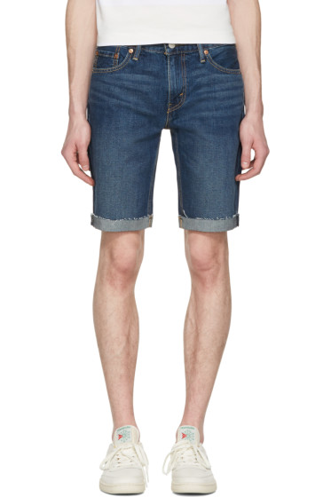 Levi's - Blue Denim Cut Off 511 Shorts