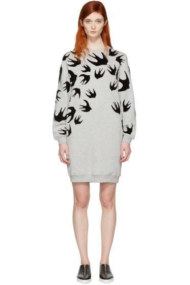 McQ Alexander Mcqueen - Grey Swallows Dress