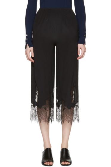 McQ Alexander Mcqueen - Black Fluid Lace Trousers