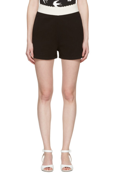 McQ Alexander Mcqueen - Black Scalloped Lounge Shorts