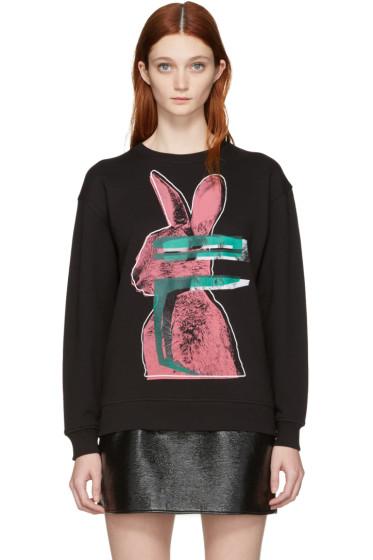McQ Alexander Mcqueen - Black Glitch Bunny Classic Pullover