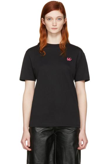 McQ Alexander Mcqueen - Black Swallow Patch T-Shirt