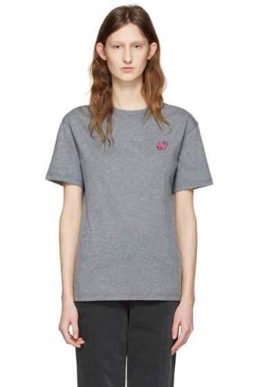 McQ Alexander Mcqueen - Grey Swallow Patch T-Shirt