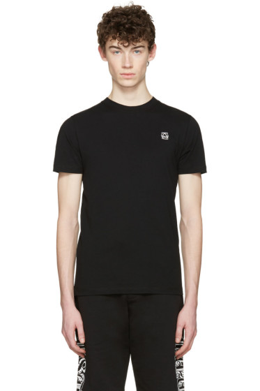 McQ Alexander Mcqueen - Black Rubberized Logo T-Shirt