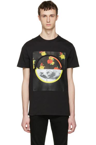 McQ Alexander Mcqueen - Black Floral T-Shirt