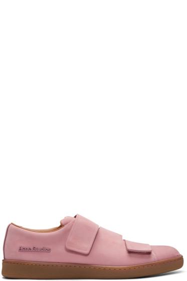 Acne Studios - Pink Nubuck Triple Sneakers