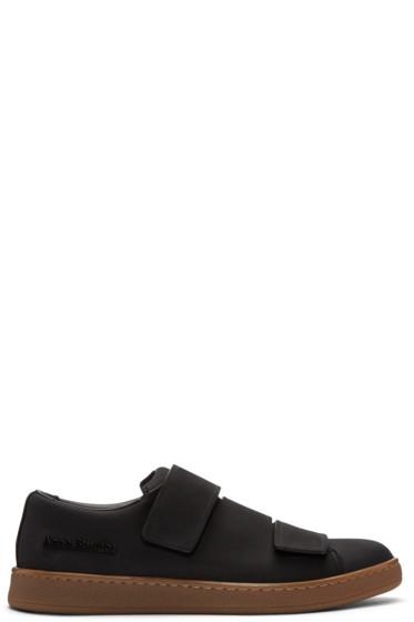 Acne Studios - Black Nubuck Triple Sneakers