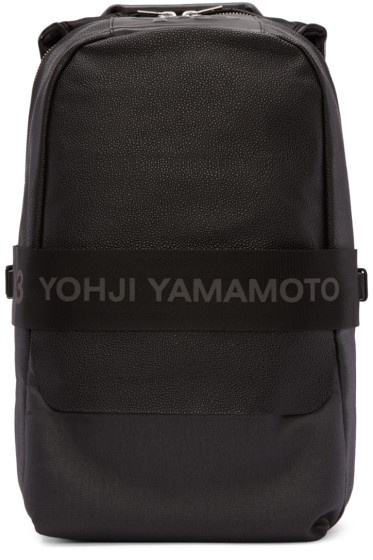 Y-3 - Black Leather Qasa Backpack