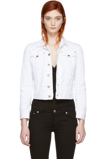 Dsquared2 - White Cropped Denim Jacket
