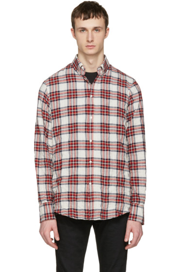 Dsquared2 - White Check Shirt