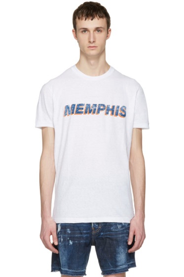 Dsquared2 - White 'Memphis' T-Shirt
