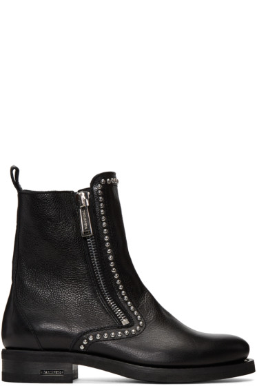 Dsquared2 - Black Studded Ankle Boots
