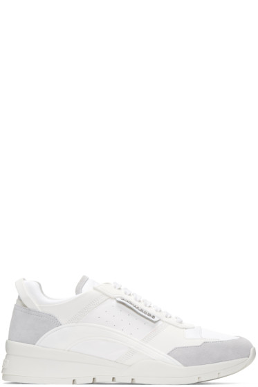 Dsquared2 - White Gommato & Velour Sneakers