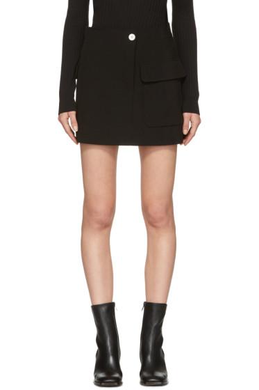 Helmut Lang - Black Raw Detail Miniskirt