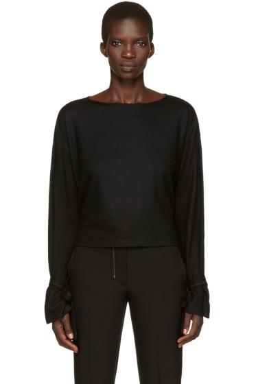 Helmut Lang - Black Sleeve Tie Pullover