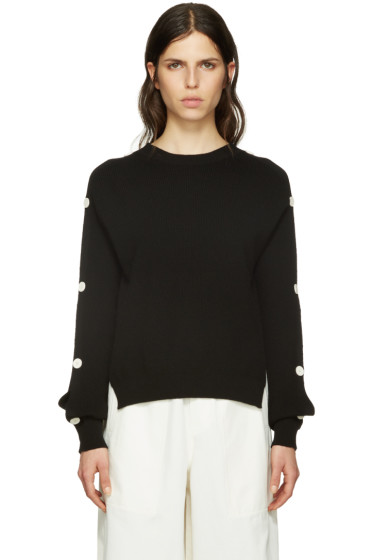 Helmut Lang - Black Cut-Out Pullover