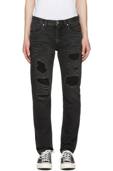 Helmut Lang - Black MR 87 Destroy Jeans