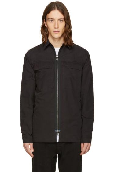 Helmut Lang - Black Zip Shirt
