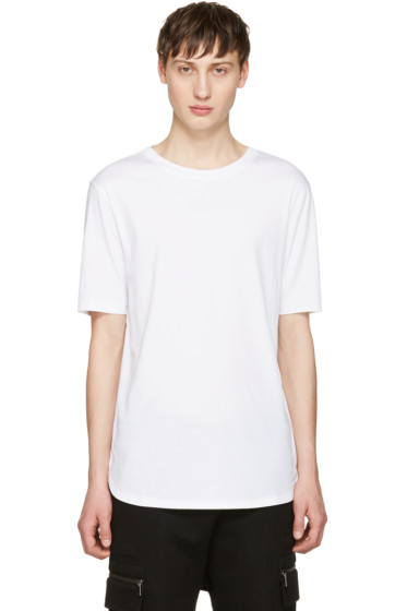 Helmut Lang - White Brushed Jersey T-Shirt