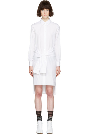 Maison Margiela - White Poplin Pure Dress