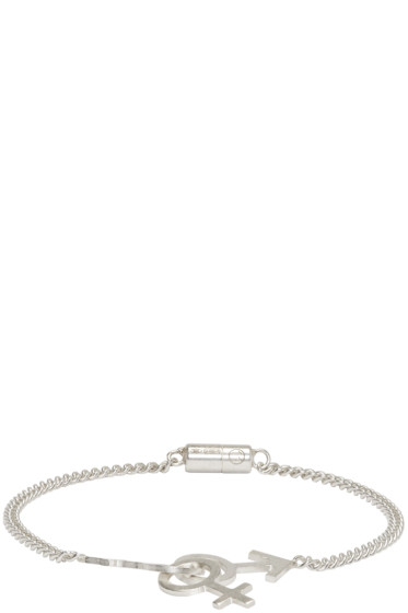 Maison Margiela - Silver Gender Sign Bracelet
