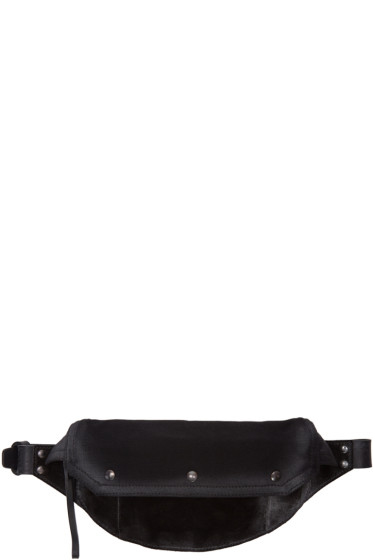 Maison Margiela - Black Suede & Canvas Bum Bag