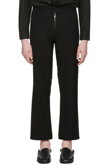 Maison Margiela - Black Exposed Zipper Trousers