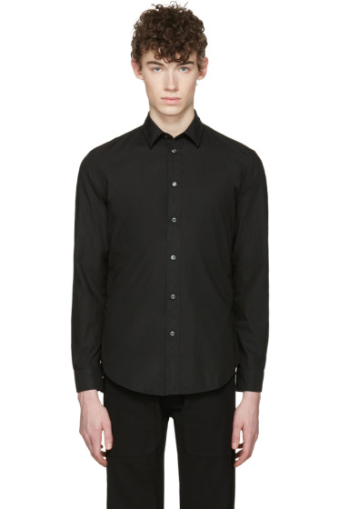 Maison Margiela - Black Garment-Dyed Shirt