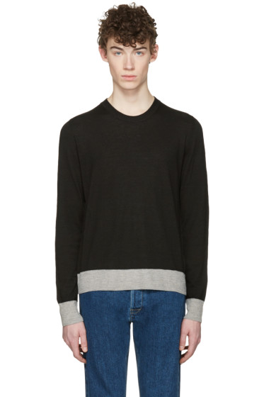 Maison Margiela - Black Elbow Patch Pullover