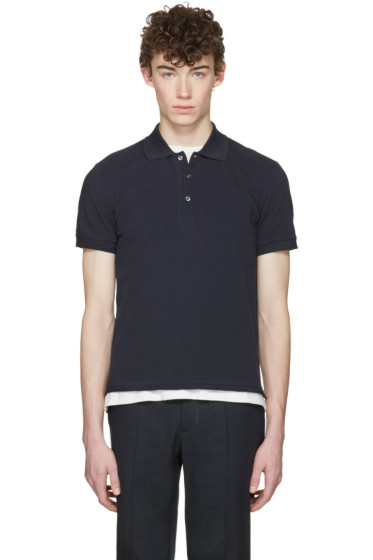 Maison Margiela - Navy Distressed Polo