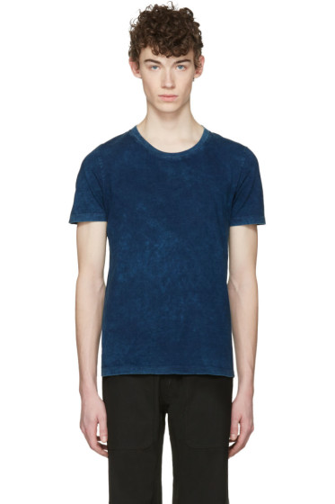Maison Margiela - Three-Pack Indigo Jersey T-Shirts