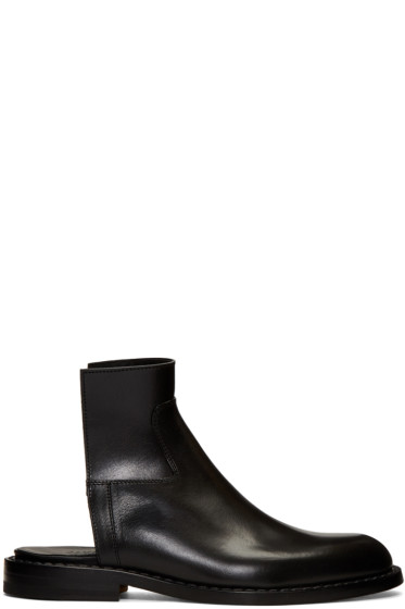 Maison Margiela - Black Cut-Off Chelsea Boots