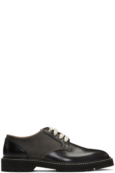 Maison Margiela - Black Panelled Derbys