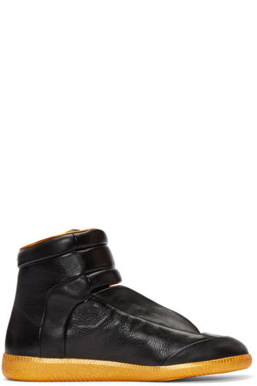 Maison Margiela - Black & Orange Future High-Top Sneakers